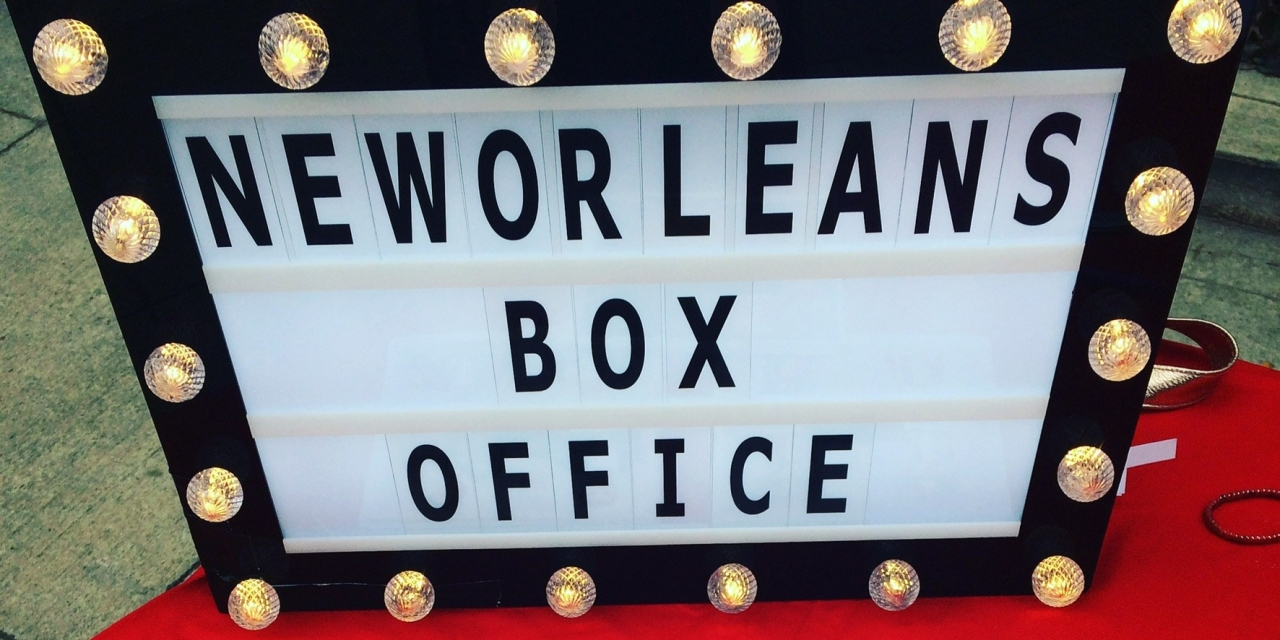 New Orleans Box Office Sign Marquee